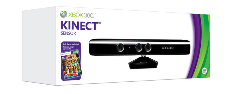 XBox 360 Kinect Сенсор + 2 игры